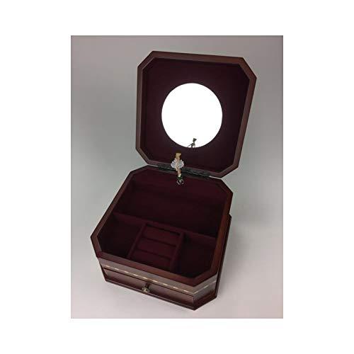 Carillon Meccanico Baule PORTAGIOIE in Legno INTARSIATO con Ballerina Che Gira e Melodia Serenata Notturna 25122