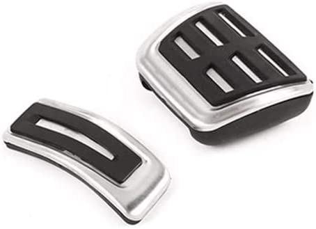 CHEYA 2pcs Stainless Steel Fuel Brake Accelerator Foot Rest Pedal Pad Plate Trim at for Porsche Macan 2018-2019