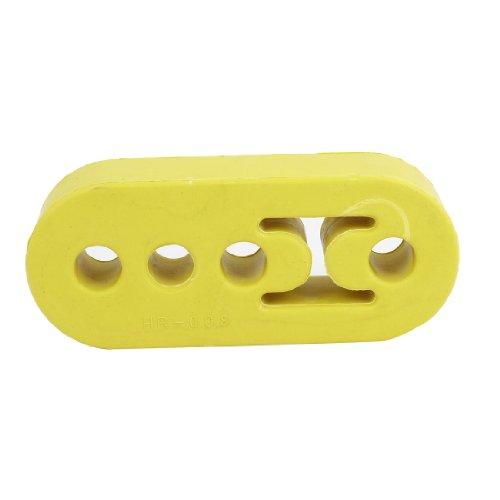 Universal 4 Hole Rubber Automobile Car Exhaust Hanger Bushing Yellow