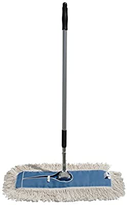 Nine Forty Industrial Strength Ultimate Cotton Dust Mop with Aluminum Quick Change Extension Handle and Frame – Hardwood Floor Broom