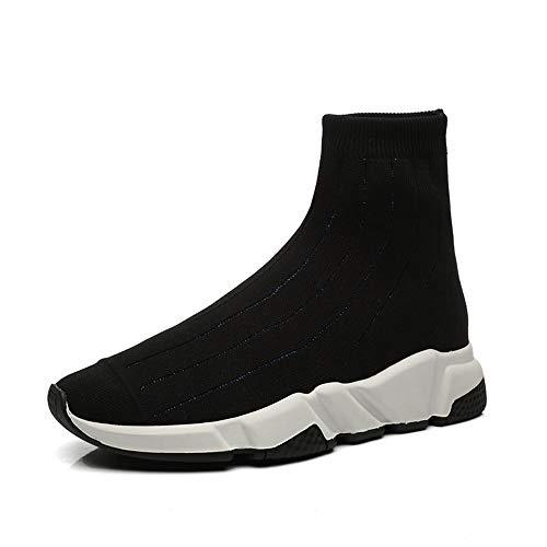 XINGMU Nuevo Estilo De Calzado Deportivo Calcetines Estilo con Elementos De Alta Calidad Bizcocho De Soles Negro y azul