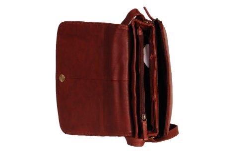 Mesdames cuir véritable Organisateur femmes Sac bandoulière MALDIVES brun