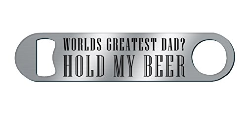 Father's Day – World's Greatest Dad – Personalized – Metal Bar Blade Bottle Opener – by Trend Setters Ltd. For Sale
