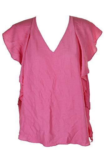 RACHEL Rachel Roy Trendy Plus Size Flutter-Sleeve Top (2X) (Flutter Plus Tops Sleeve)