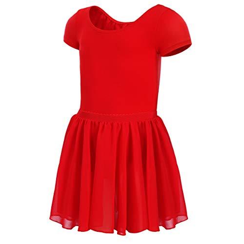 MAGIC TOWN Gymnastics Leotards for Girls Ballet Toddler Dance (4-6,Red)]()