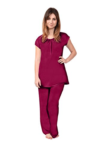 Short Sleeve Women's Pajamas (Nature's Breeze) Bamboo Pajamas Sleep Set