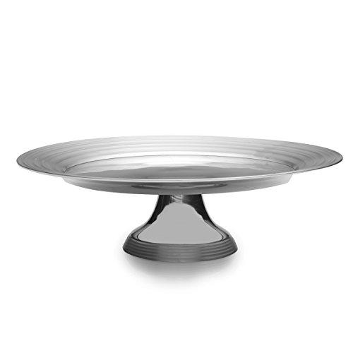 Mikasa Swirl Aluminum Cake Plate, 14-Inch