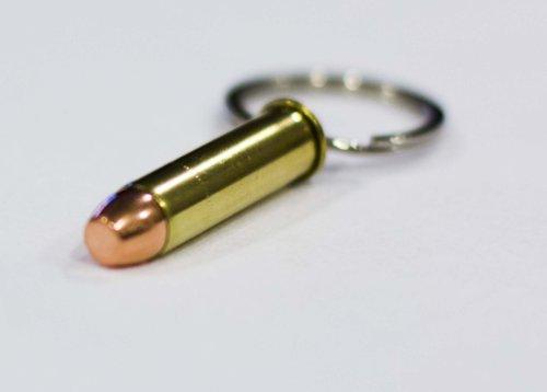 .357 Magnum Bullet Keychain (Brass 357 Magnum)