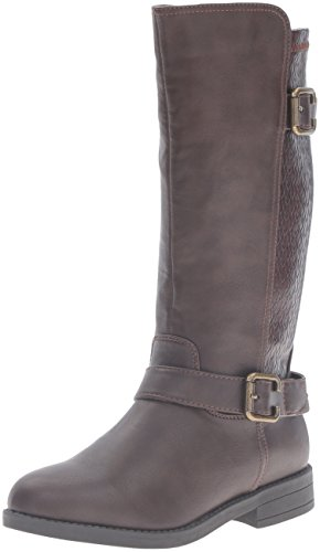 [Rampage Girls' Rak Kathie Pull-On Boot, Brown, 1 M US Little Kid] (Brown Boots For Kids)