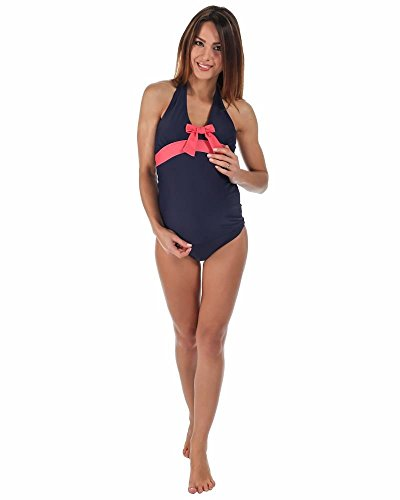 The Essential One Women's Bow Detail Maternity Tankini 14 Navy