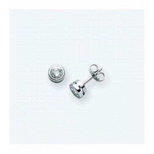 Boucles d'oreilles MILUNA 8Cœurs erd226_ 004S or blanc diamant