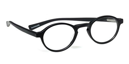 eyebobs Unisex Board Stiff Matte Black Reading Glasses +2.50