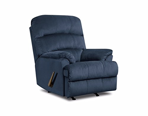 Simmons Upholstery hampton Rocker Recliner, Marine (Navy Blue Padded Recliner)