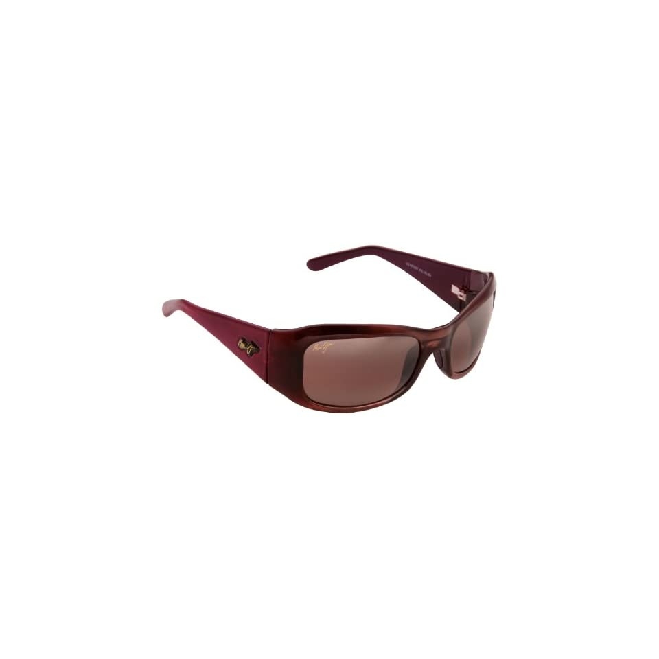 Maui Jim Hibiscus 134 Sunglasses Color Burgundy/Rose Lens Size Sunglasses