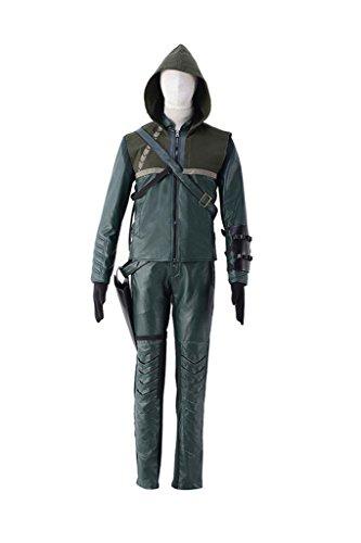 Neji Cosplay Costume (Mtxc Men's Arrow Cosplay Costume Green Arrow 1st Size XX-Large Green)