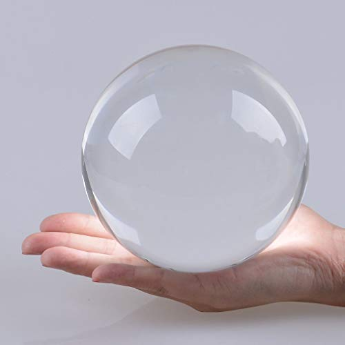 LONGWIN 120mm (4.7 inch) Large Crystal Divination Ball Photography Props Free Wooden Stand by LONGWIN (Image #3)