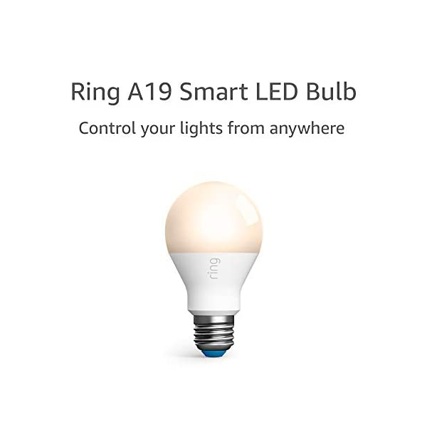 Ring A19 Smart LED Bulb, White (Ring Bridge required) 1