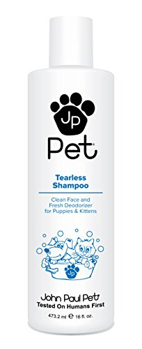 (John Paul Pet Tearless Odor Absorbing Shampoo, Clean and Fresh Low PH Formula for Puppies, Dogs, Kittens and Cats, 16-Ounce )