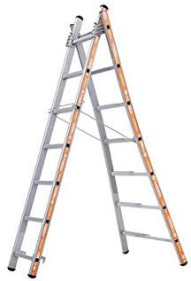 Tubesca - Escalera transformable aluminio 2 x 7 peldaños, altura Acceso de 4,14 m - PRONOR: Amazon.es: Bricolaje y herramientas