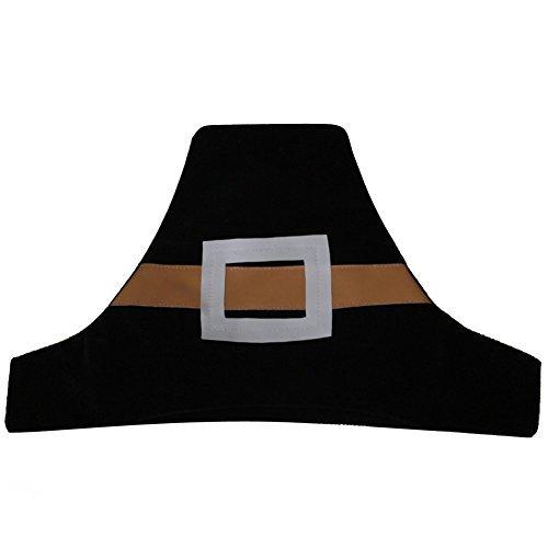 CHEFSKIN Lot of 10 Kids Pilgrim Hat Thanksgiving Children Size Soft Comfortable Felt