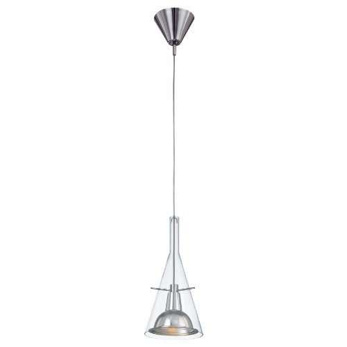 (George Kovacs P8111-084, 1-Light Mini Pendant, Brushed Nickel)
