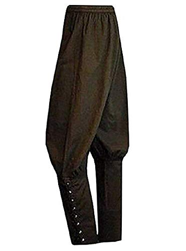Fashare Mens Pirate Ankle Banded Medieval Renaissance Pants Trousers Viking Navigator Halloween Costume -
