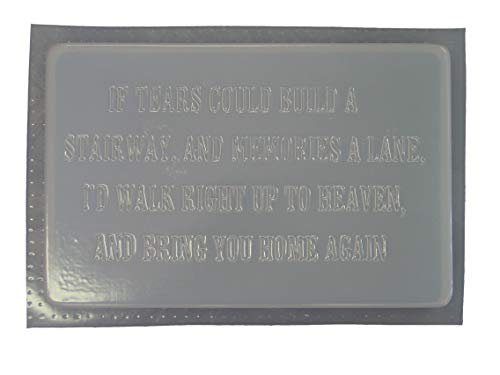 If Tears Memorial Stepping Stone Concrete Plaster Mold 1191