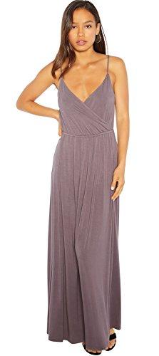 Rohb by Joyce Azria Garden District Long Maxi Faux Wrap Dress (Plum) Size ()