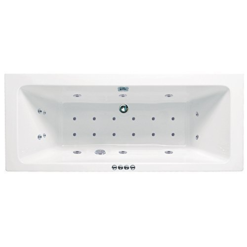 Dallas 1800mm (L) x 800mm (W) x 430mm (D) Luxury Double Ended Rectangular Whirlpool & Airpool Bath NWT Direct