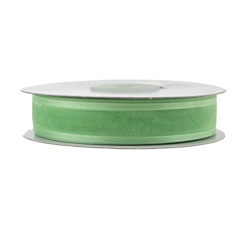 Mint Organza Satin Edge Ribbon - Homeford FCR000SES0708530 Satin-Edge Sheer Organza Ribbon 7/8