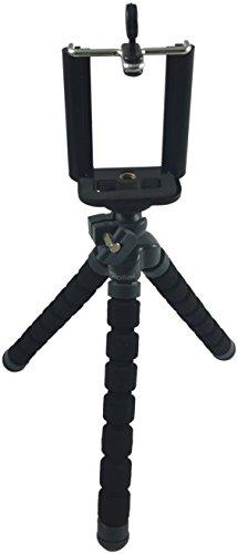 Rollei Selfie Mini Stativ - mit Beinen zum Biegen, Wickeln oder Falten - für Smartphones und Kompaktkameras - inkl. Smartphone-Adapter