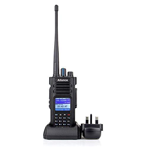 Ailunce HD1 DMR Digital Two Way Radio Dual Band Amateur Radio 3000 Channels  GPS IP67 Waterproof Compatible with Mototrbo TierⅠ&Ⅱ Ham Radio (Black)