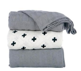 Tula Blanket Set - Splatter Jet, Gray, Black, White