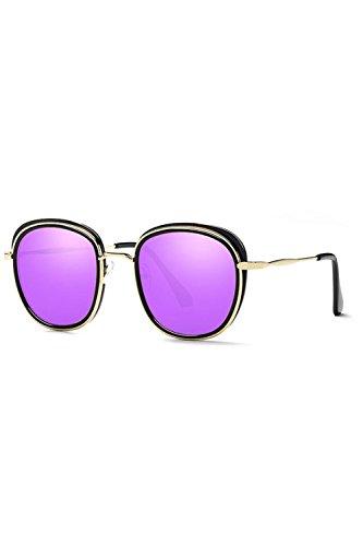 Gafas Espejo Tamaño De UV De Gafas Sol Protección Las Purple UV400 Polarizadas Hombres UdSTAxwq