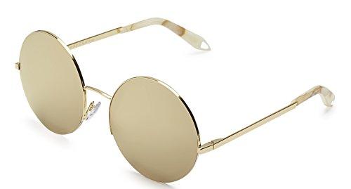 Victoria Beckham Supra Round 18ct Gold Mirror - Victoria Mirror Beckham Sunglasses