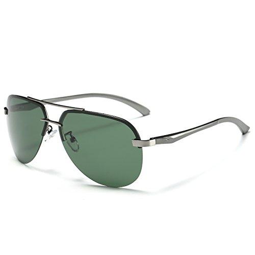 TIANLIANG04 aleación guía piloto macho sol metal gafas la UV400 de anteojos verde polarizadas de hombres Gun Gafas del 100 Gafas Green la de estilo Gun rx0wHqRFr7