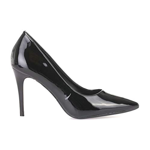 Vestir Zapatos Sintético La Negro 50630 Mujer Modeuse De xxEIX