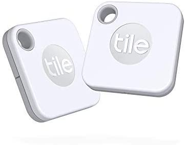 Tile Mate (2020) Lot de 2 localisateurs d'article Bluetooth, Blanc. Portée de...