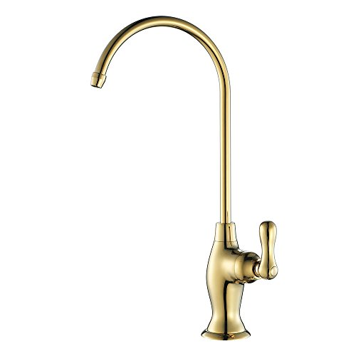 KES RO Water Filter Faucet Kitchen Bar Sink LEAD-FREE Brass Drinking Water Faucet Gold, Z104ALF-4