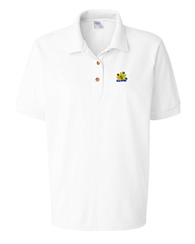 Speedy Pros Sport LIL' All Star Logo Embroidery Polo Shirt Golf Shirt - White, X Large All Star Embroidered Jersey