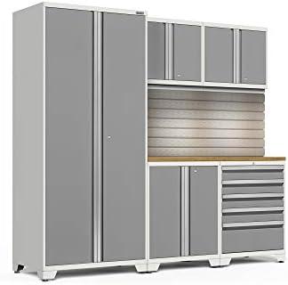 [해외]NewAge Products Pro 3.0 Platinum 6 Piece Set Garage Cabinets 58780 / NewAge Products Pro 3.0 Platinum 6 Piece Set, Garage Cabinets, 58780