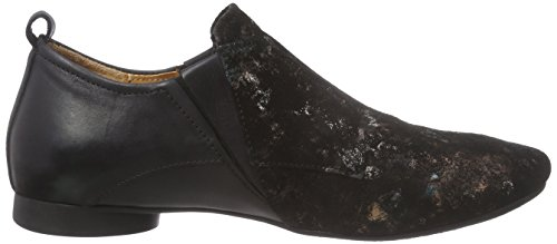 Think! Guad Damen Slipper Schwarz/Braun
