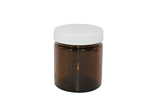 4 Oz. Amber Wide-Mouth Jar With Cap 6 Count