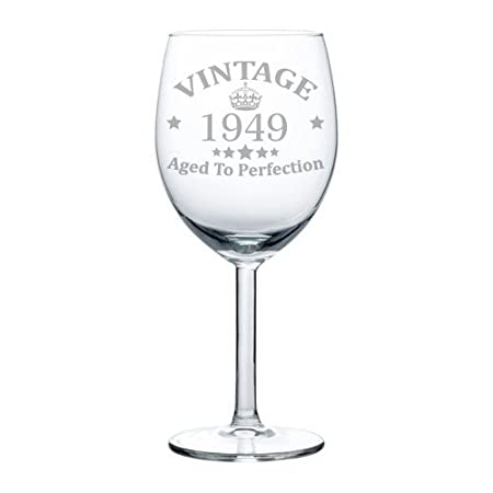 Copa de vino de 68º cumpleaños vintage envejecido a la ...