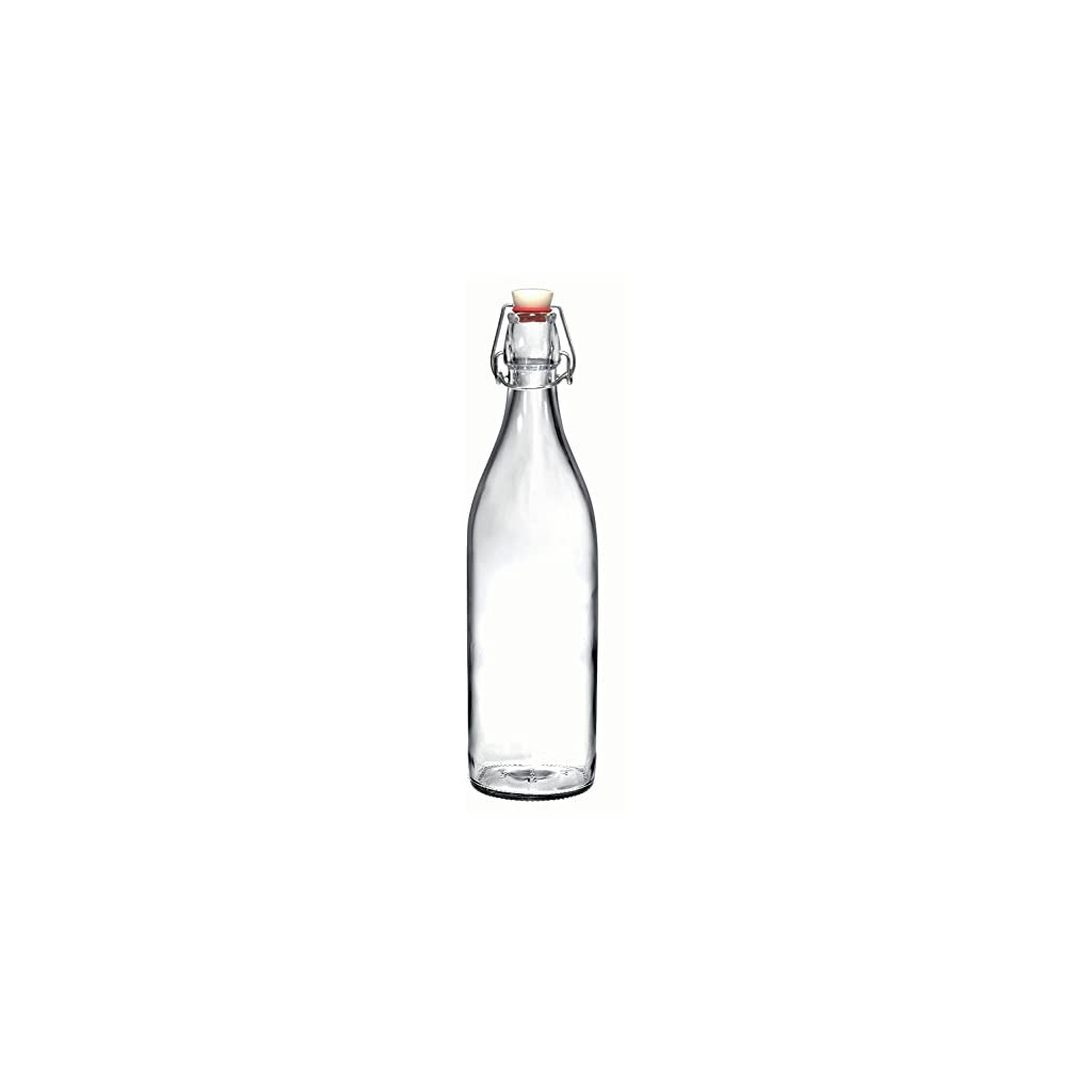 California Home Goods Giara Clear Glass Bottles With