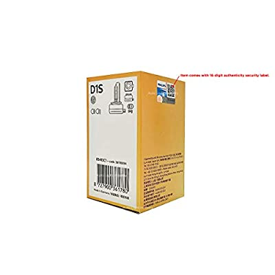 D1S - PHILIPS 4300K XenStart OEM HID/Xenon Replacement bulb 85415C1 35W DOT Germany - Pack of 1 by ALI: Automotive