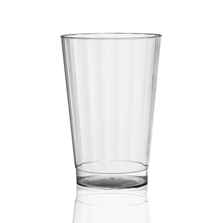 20-Pack Prestige 16-ounce Clear Disposable Hard Plastic Fluted Tumbler Cups (Clear Oz Fluted 16)