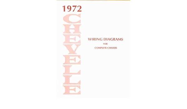 1972 chevelle wiring diagram manual reprint malibu, ss, el camino paperback  – student calendar, 1972