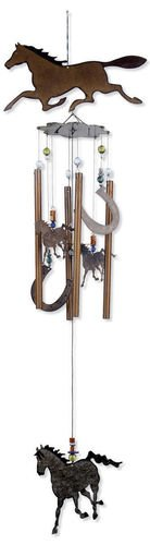 Chime Wind Horse (Sunset Vista Designs Horsing Around Horse Wind Chime, Large)