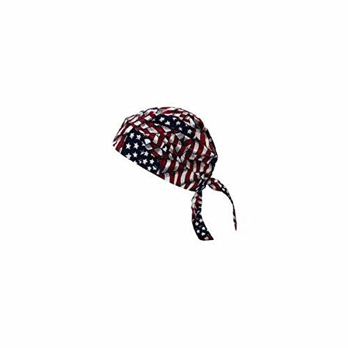 Occunomix TN5 Tuff Nougies Tie Hat Doo Rag-Wavy Flag